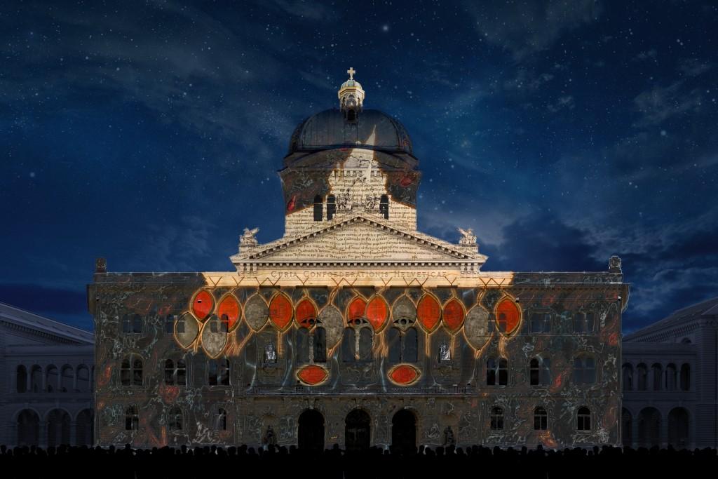 Fegefeuer - das Bundeshaus in speziellem Licht