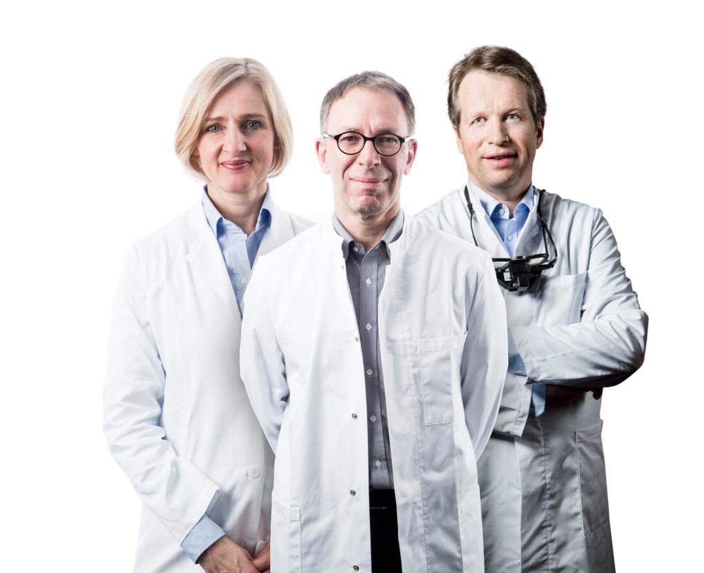 Das Chefarztgremium der Pallas-Kliniken (v.l.n.r.): Prof. Dr. med. Maya Müller, Prof. Dr. med. Heinrich Gerding, Prof. Dr. med. Carsten H. Meyer