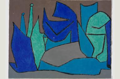 Paul Klee Riesen-Pflanzen, 1940, 266 Kleisterfarbe auf Papier auf Karton 48 x 62,5 cm Zentrum Paul Klee, Bern